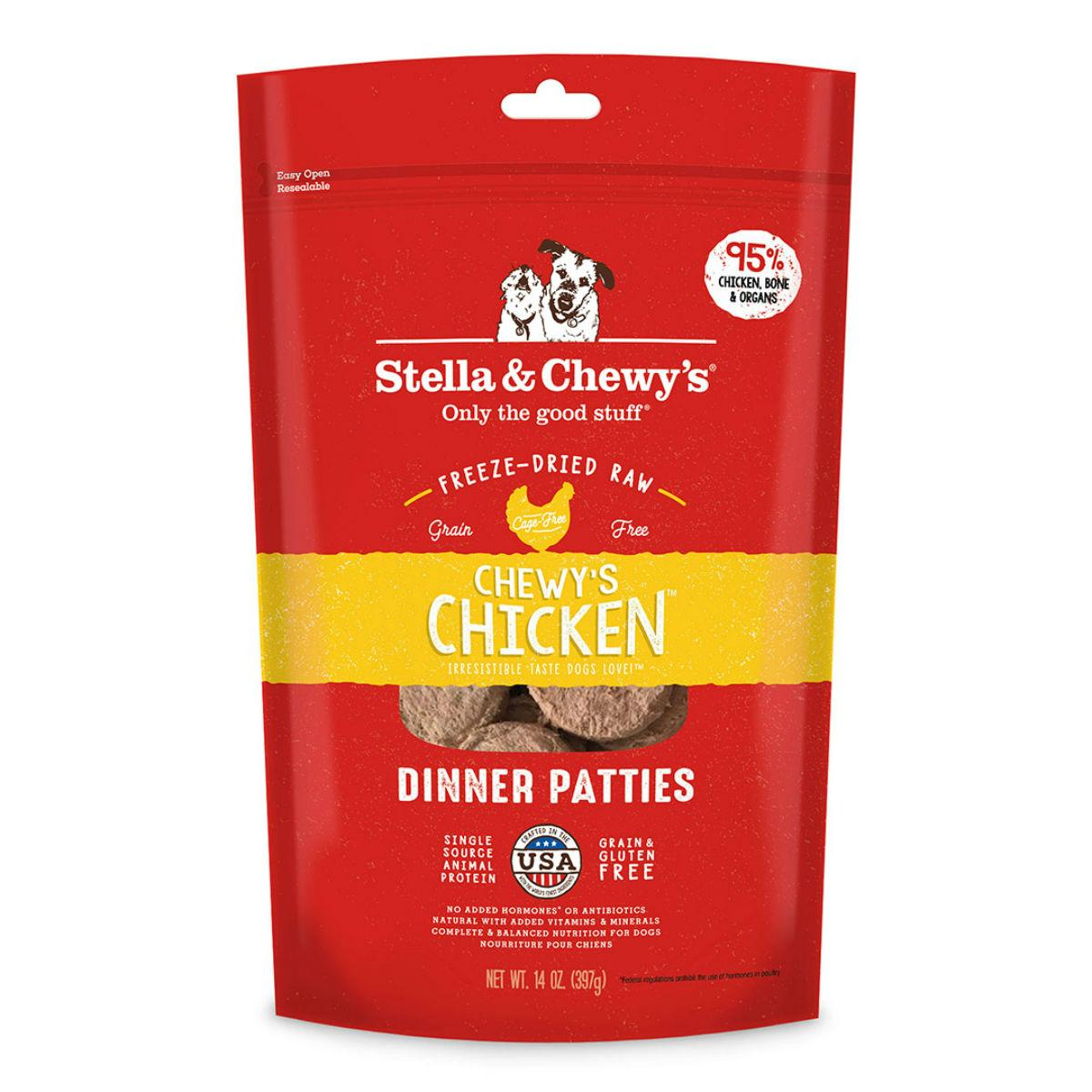 Stella & Chewy's Chicken Dinner Patties Dog Treat - Freeze Dried