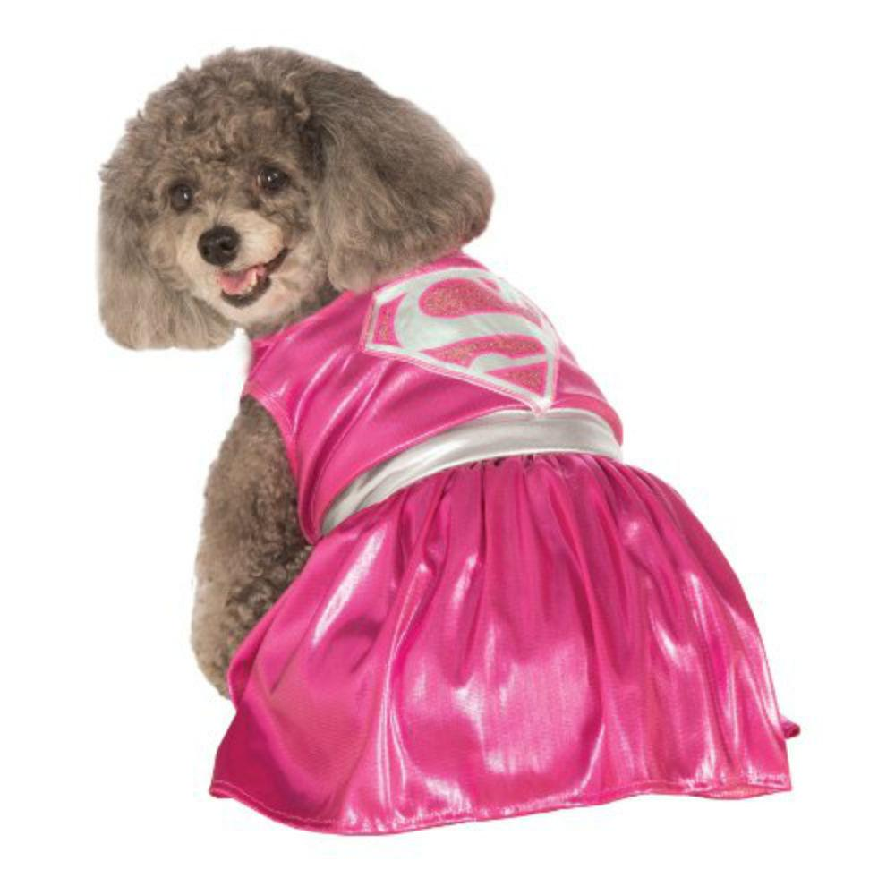 DC Comics Pink Supergirl Dog Costume by Rubies