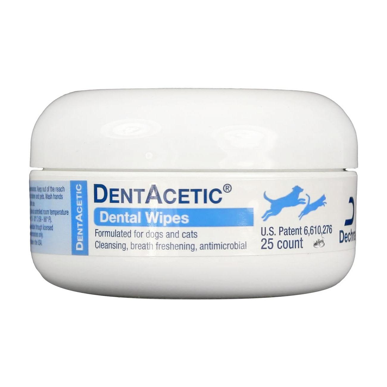 Dechra DentAcetic Dental Wipes for Dogs and Cats