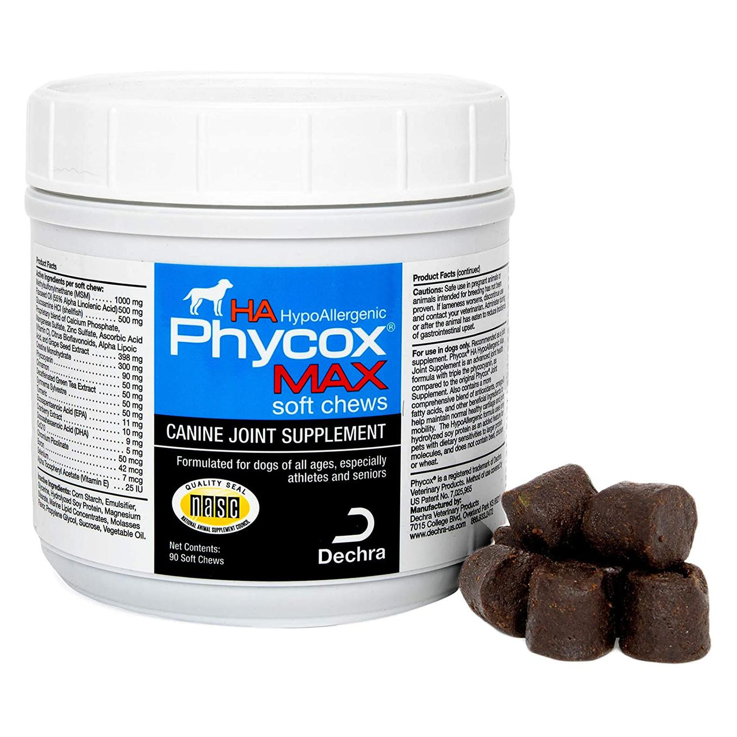 Dechra Phycox MAX HA Hypoallergenic Soft Chews Canine Joint Supplement