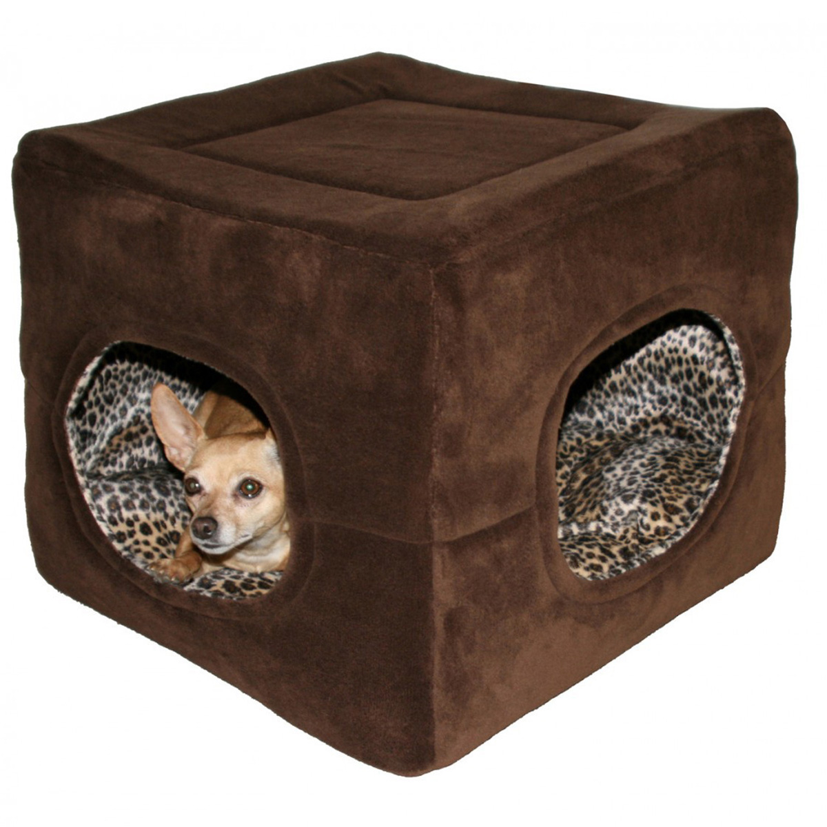 Deluxe 2 Door Pop Up Dog Tent/Bed by Hip Doggie - Chocolate Brown with Same Day Shipping | BaxterBoo  sc 1 st  BaxterBoo.com & Deluxe 2 Door Pop Up Dog Tent/Bed by Hip Doggie - Chocolate Brown ...