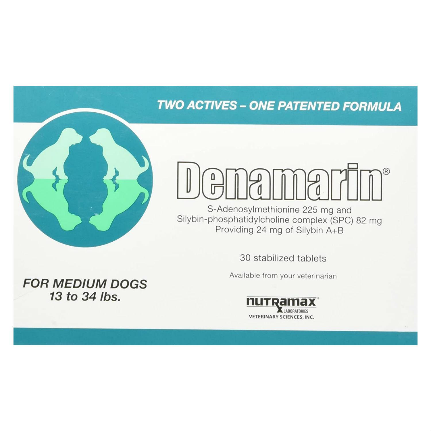 Denamarin®️ Liver Support Supplement for Medium Dogs 13-34 lbs by Nutramax®️