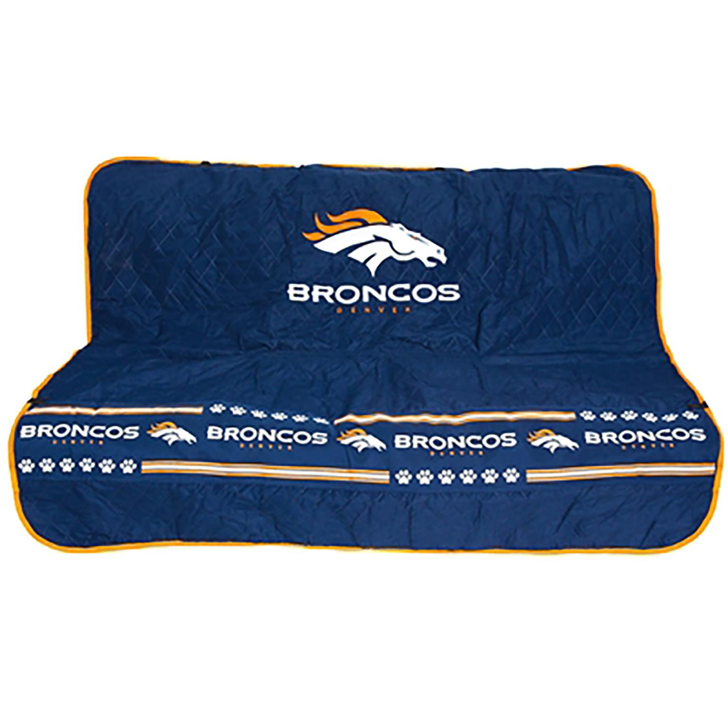 Denver Broncos Dog Car Seat Cover