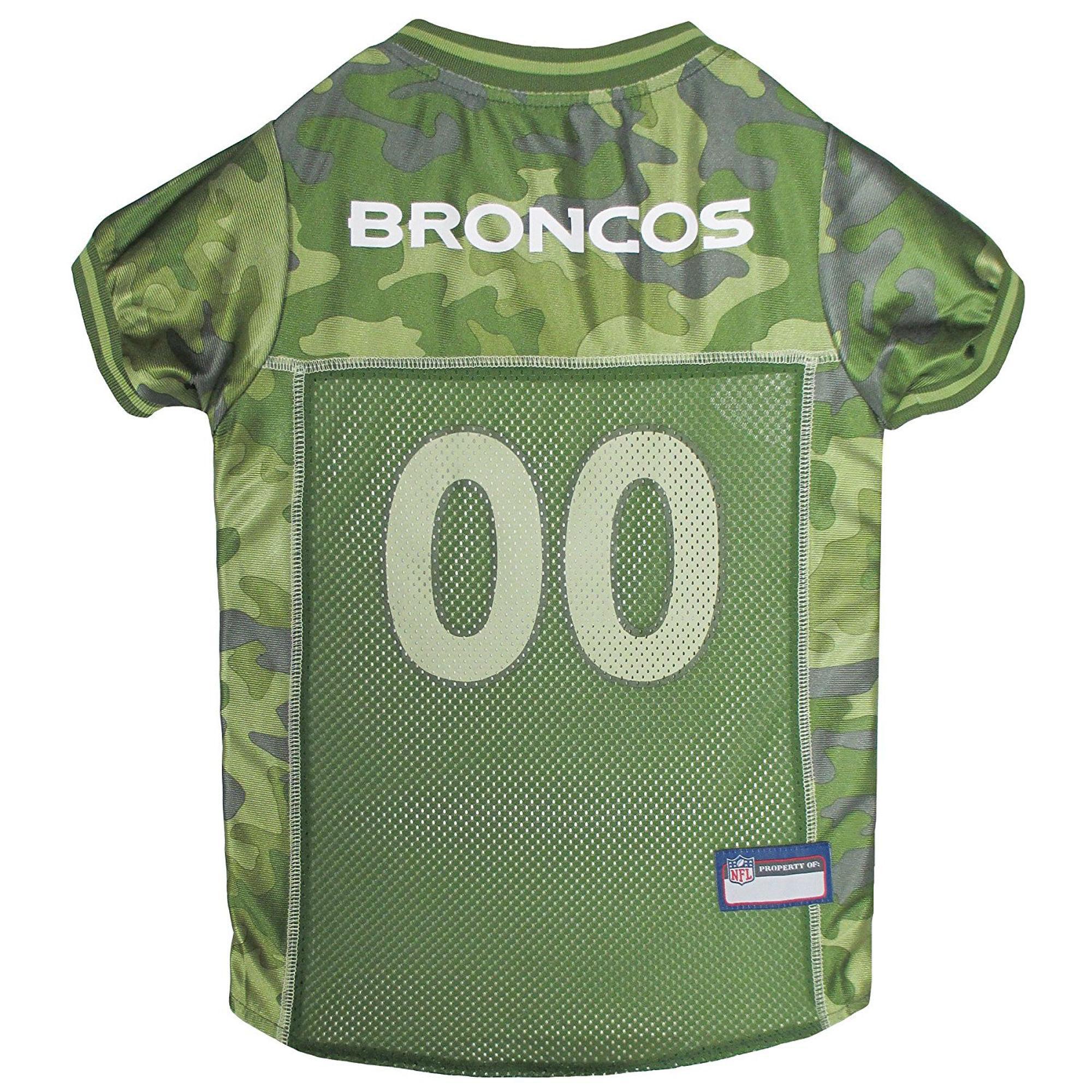 Denver Broncos Dog Jersey - Camo