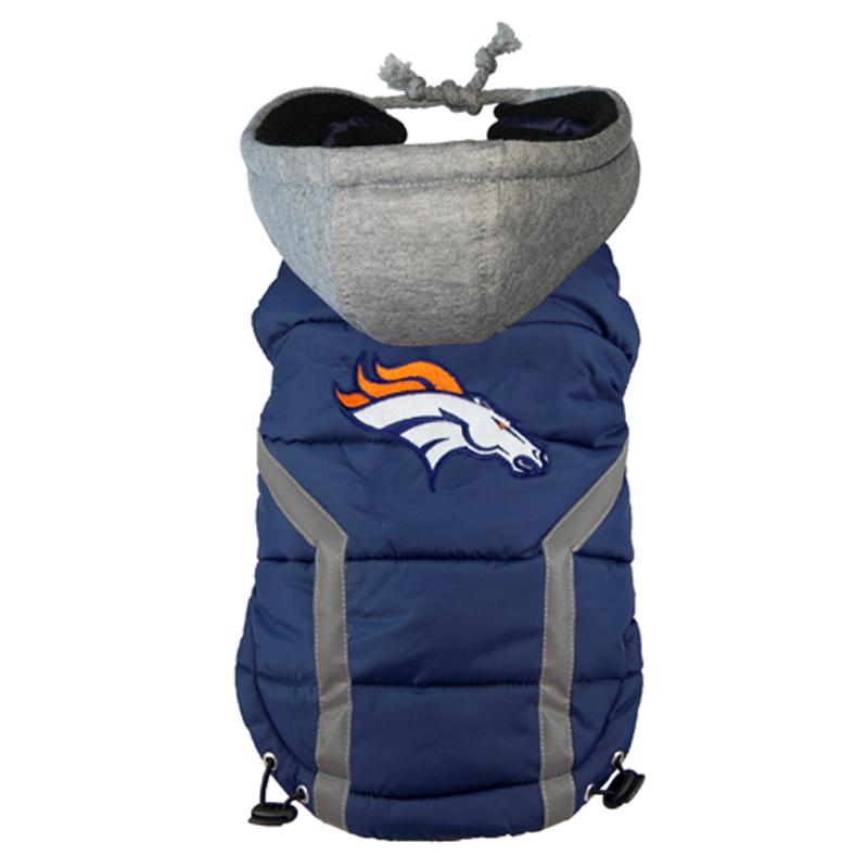 Denver Broncos Dog Puffer Vest