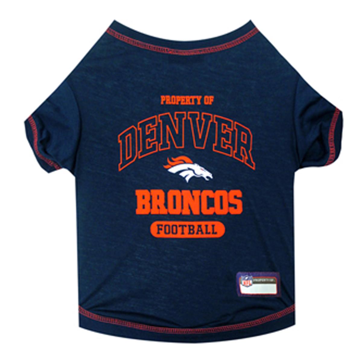 Denver Broncos Dog T-Shirt - Blue