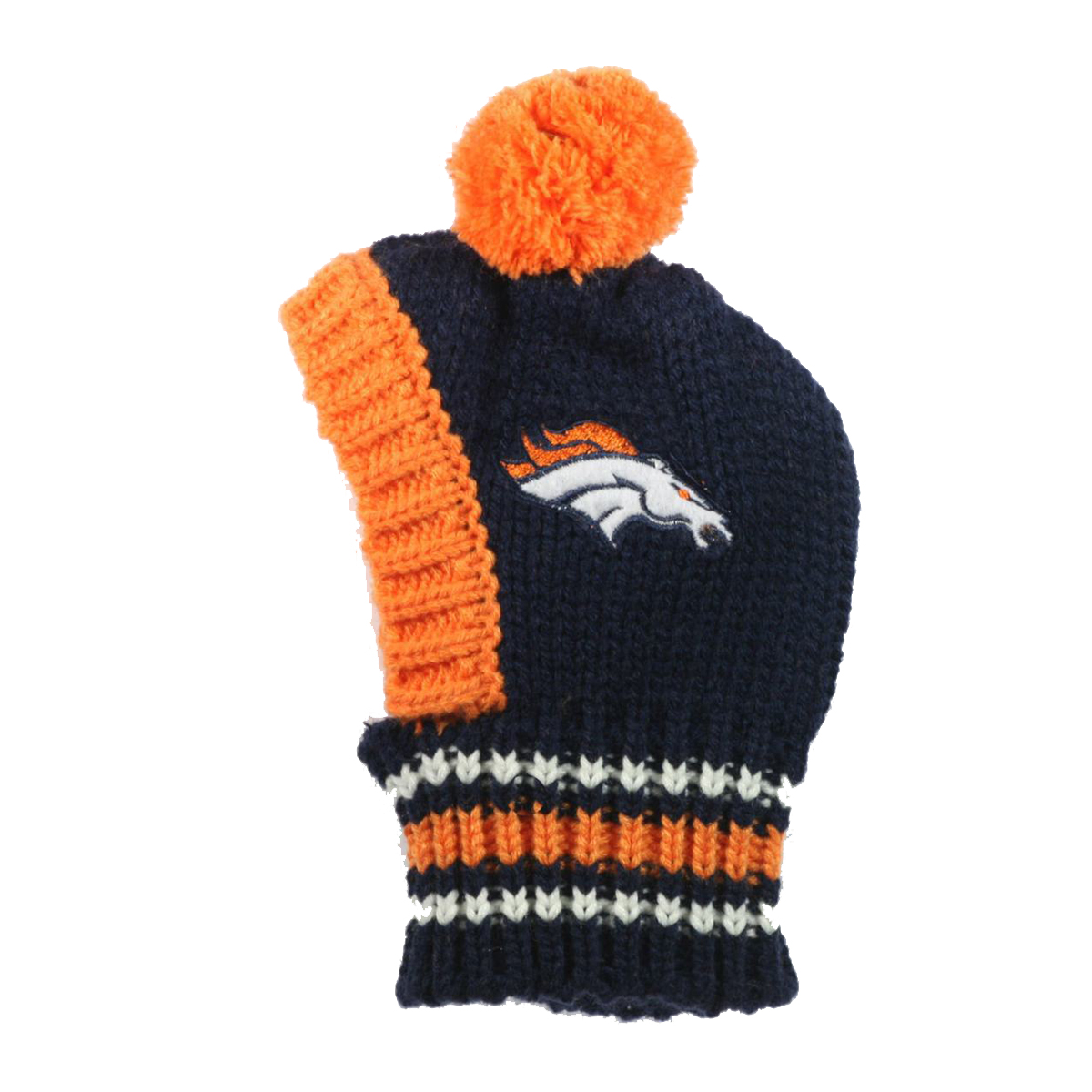 check out 93d23 1a1d6 Denver Broncos Knit Dog Hat
