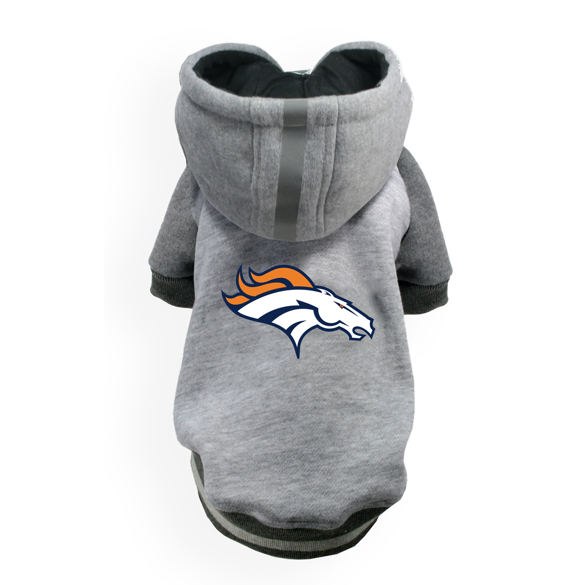 new style 6586c 836e3 Denver Broncos NFL Dog Hoodie - Gray