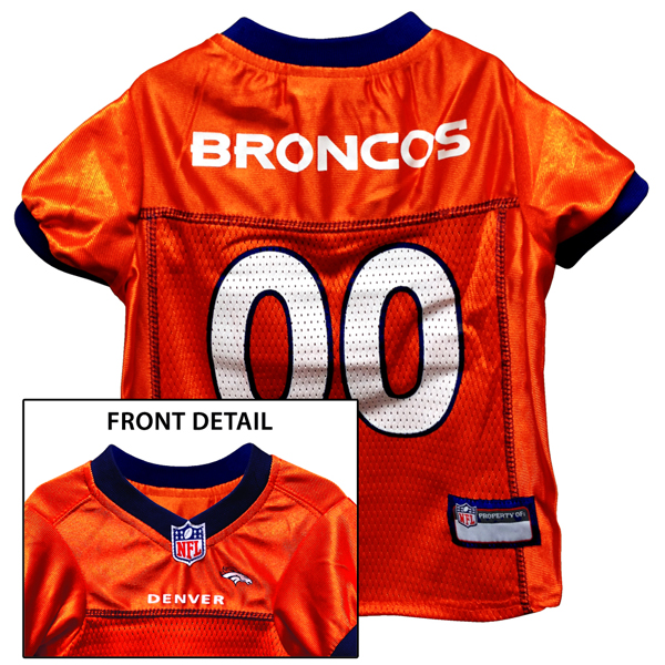Denver Broncos Officially Licensed Dog Jersey - Orange