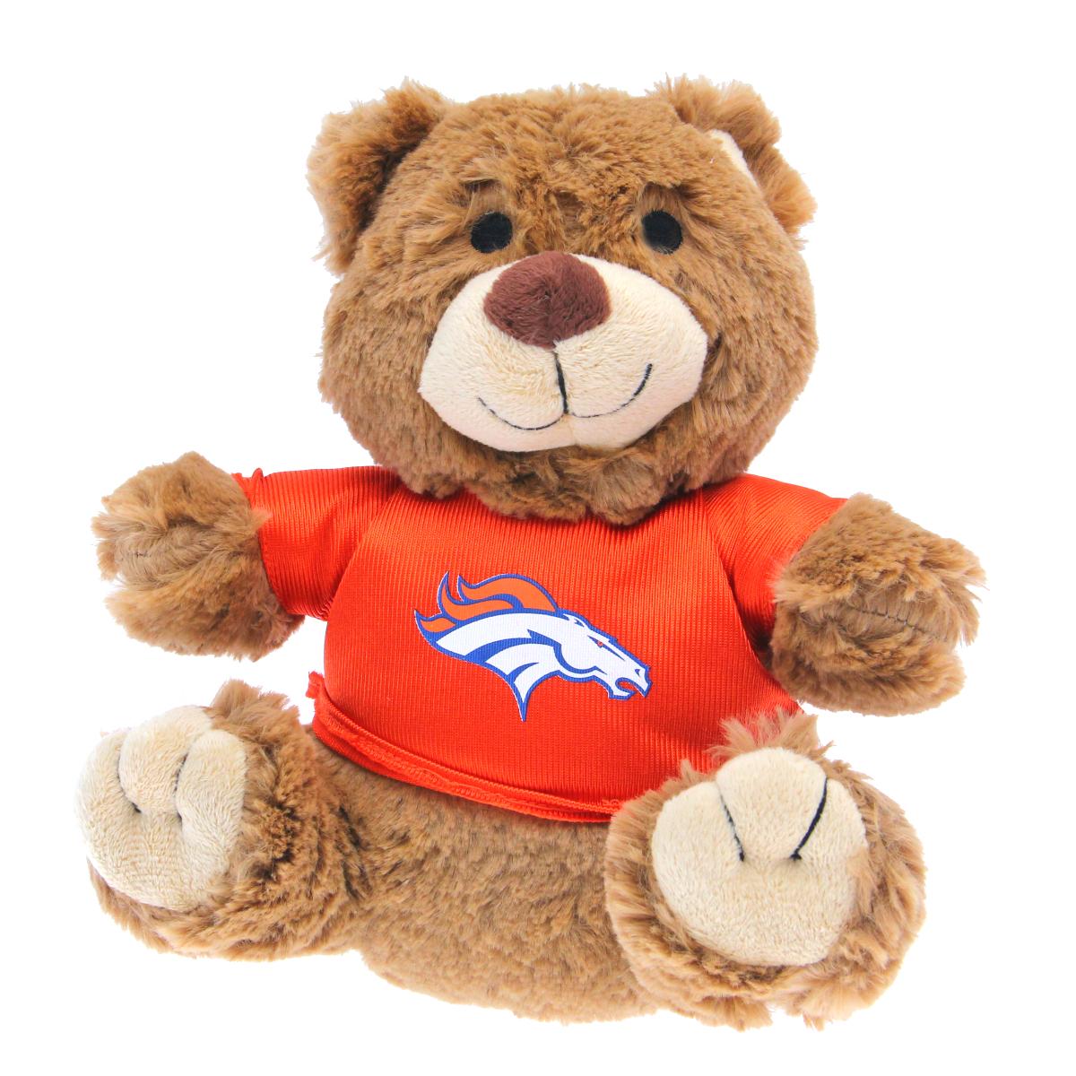 Denver Broncos Teddy Bear Dog Toy Baxterboo