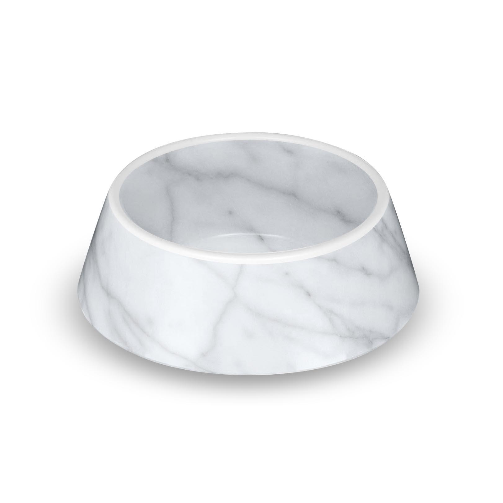 Carrara Marble Dog Bowl by TarHong