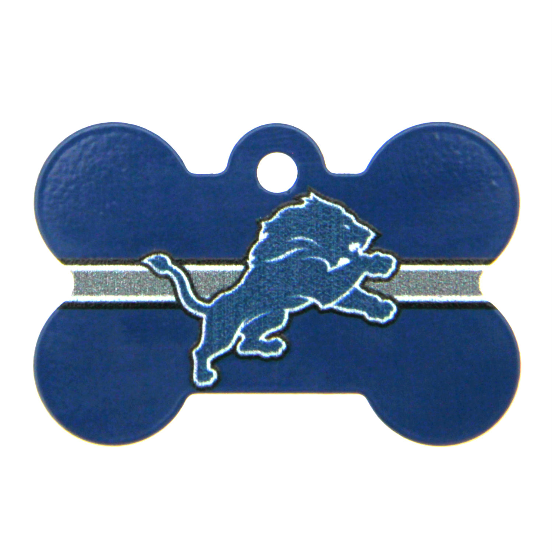 Detroit Lions Engravable Pet I.D. Tag - Bone