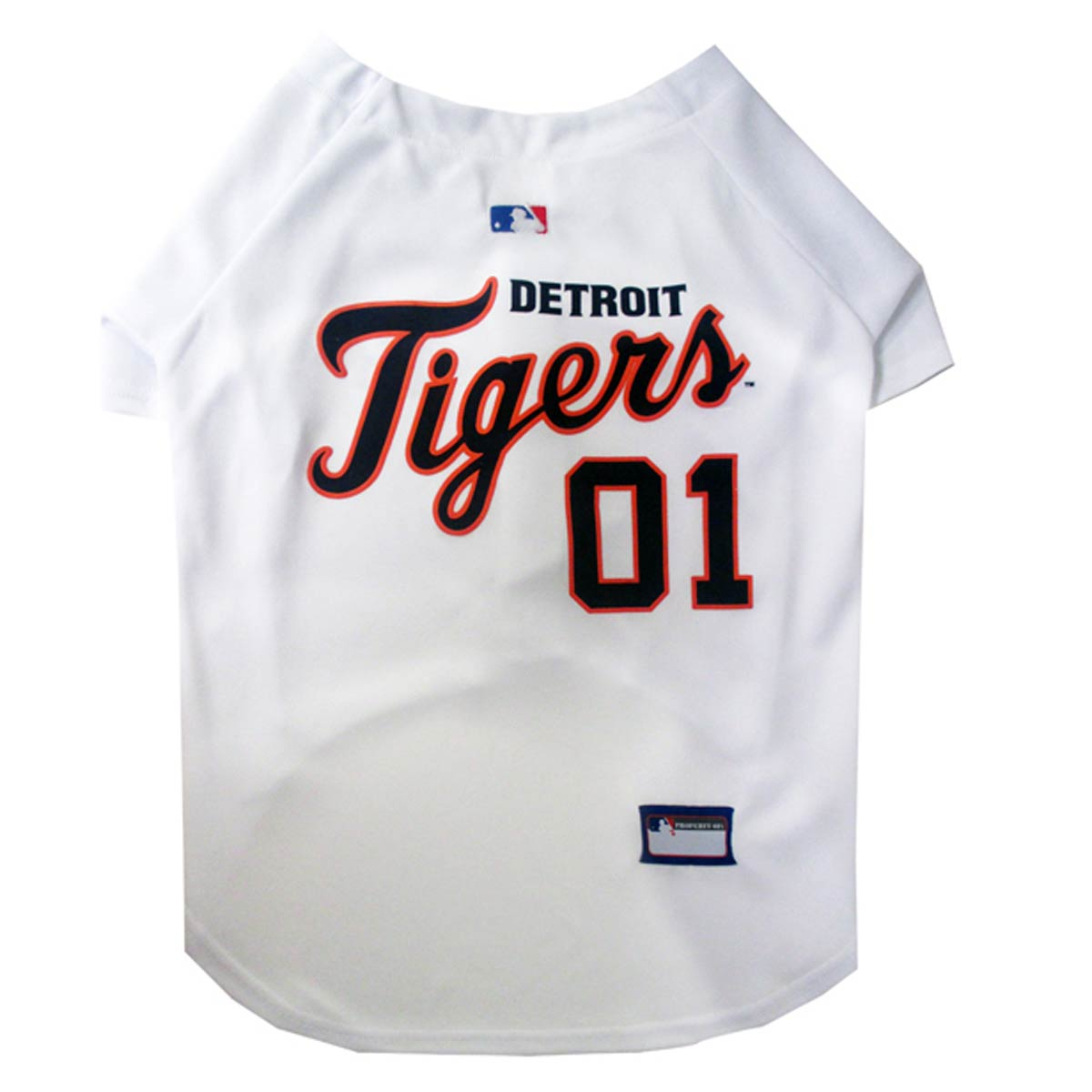 Detroit Tigers Officially Licensed Dog Jersey - White