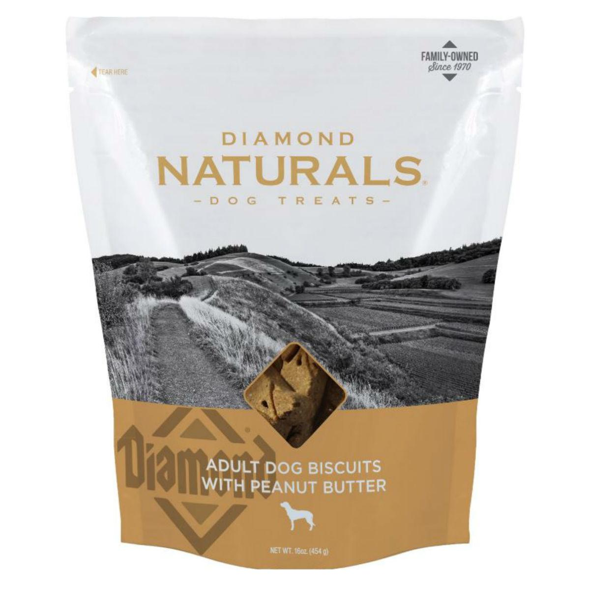 Diamond Naturals Adult Dog Biscuits - Peanut Butter