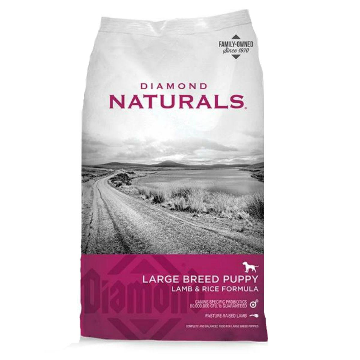 Diamond Naturals Large Breed Puppy Dog Food - Lamb and Rice
