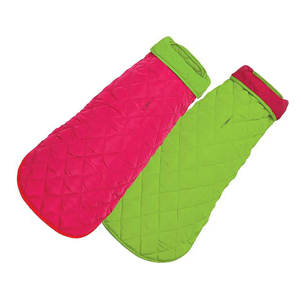 Diamond Quilted Reversible Dog Coat by Up Country - Pink and Lime