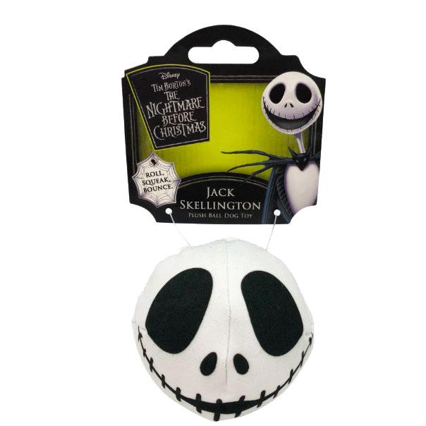 Disney Nightmare Before Christmas Dog Toy - Jack Skellington Ball