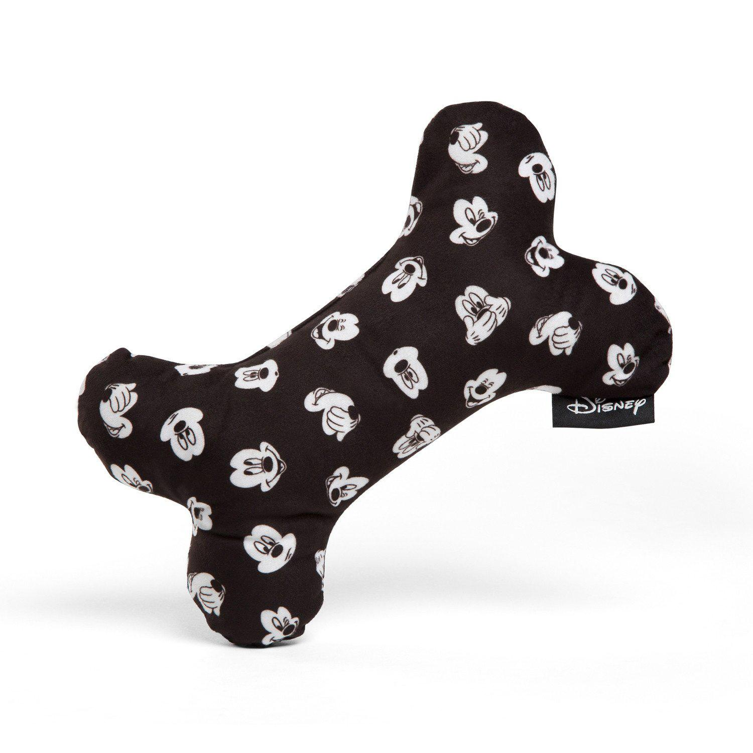 Disney Plush Bone Dog Toy - Mickey Expression Prints