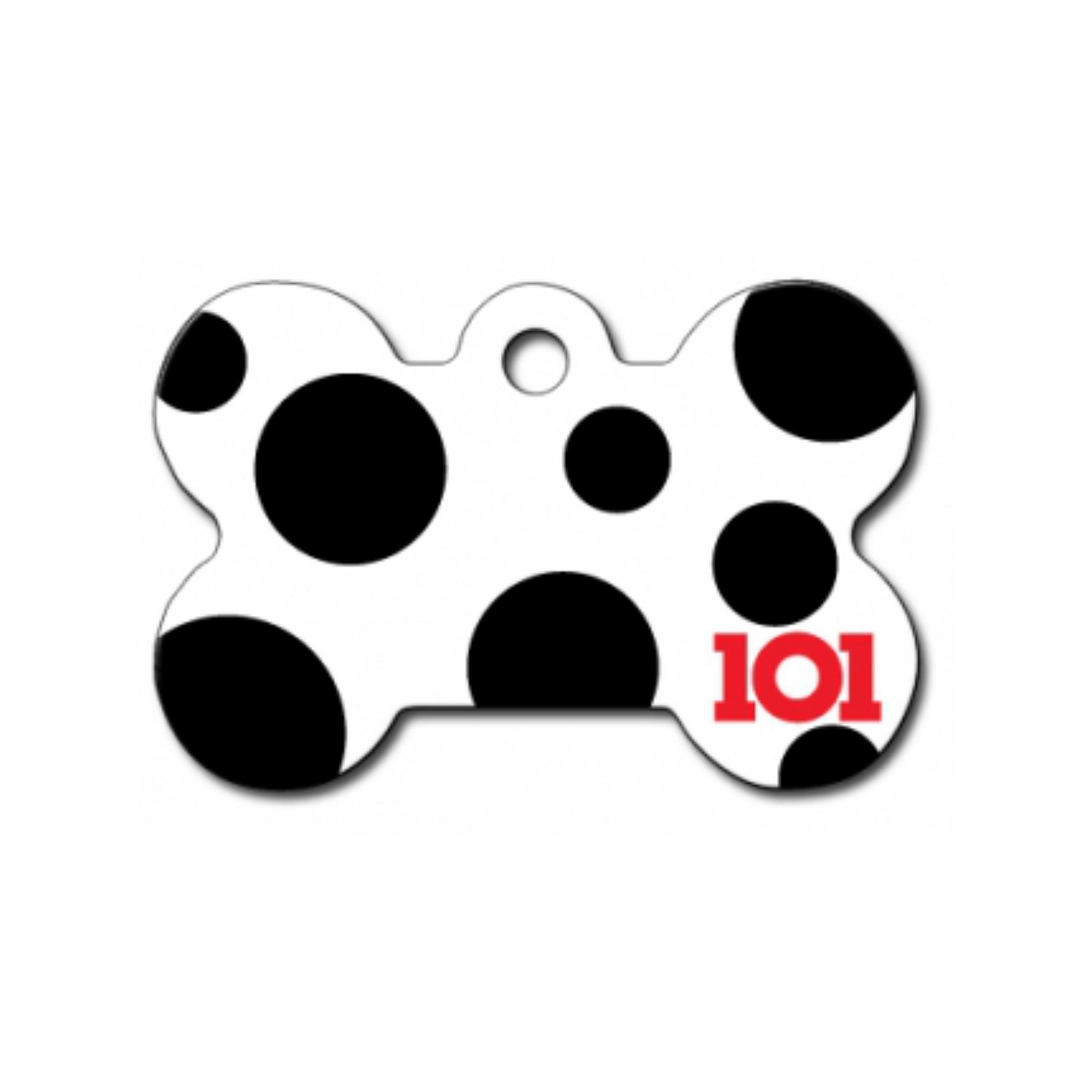 Disney© 101 Dalmations Bone Large Engravable Pet I.D. Tag