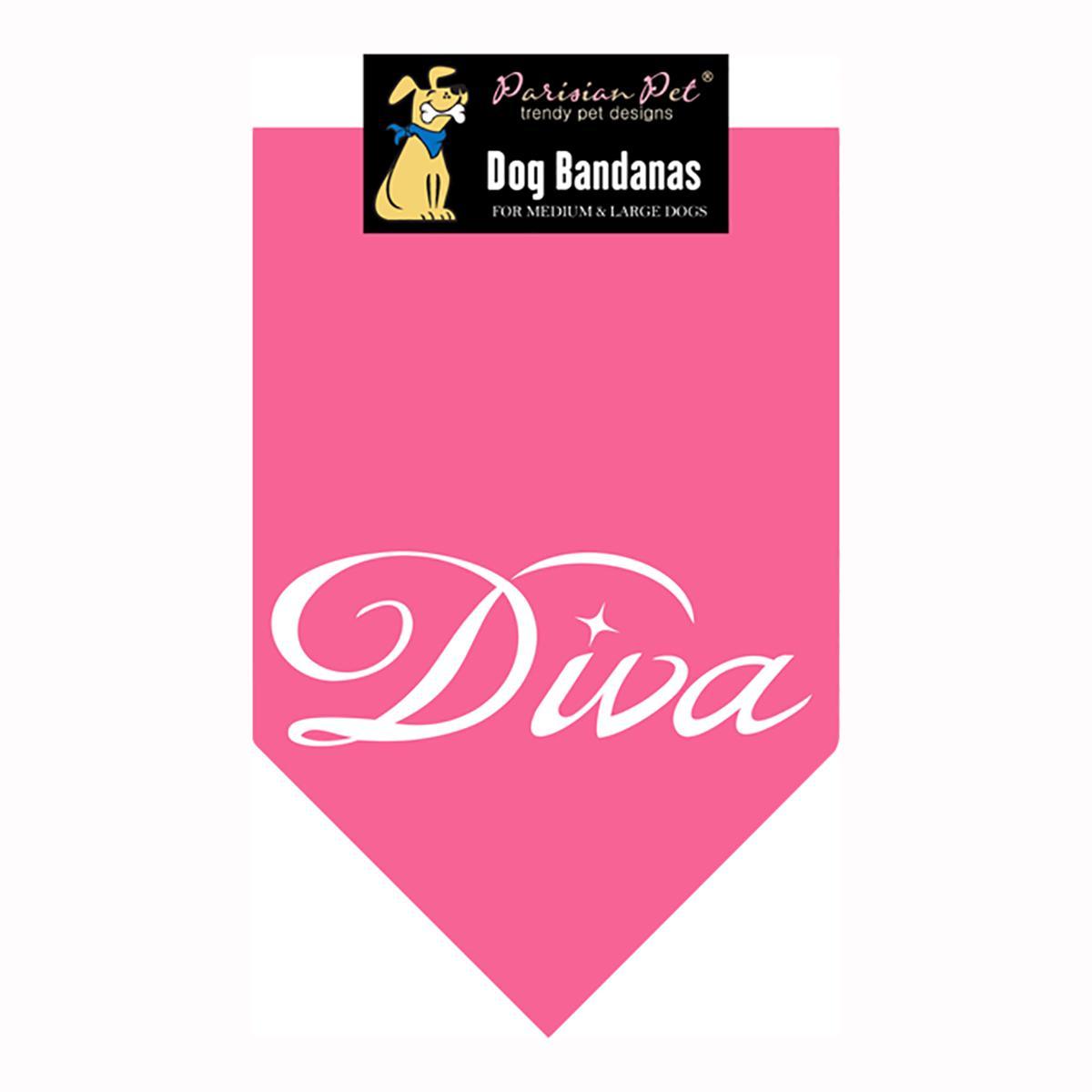 Diva Dog Bandana - Pink