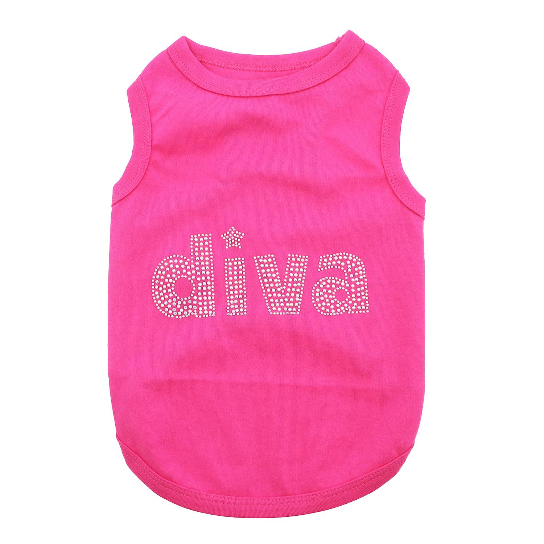 Diva Dog Tank by Parisian Pet - Pink