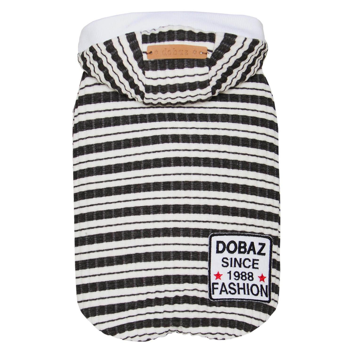Dobaz Striped Knit Dog Hoodie - Navy & White
