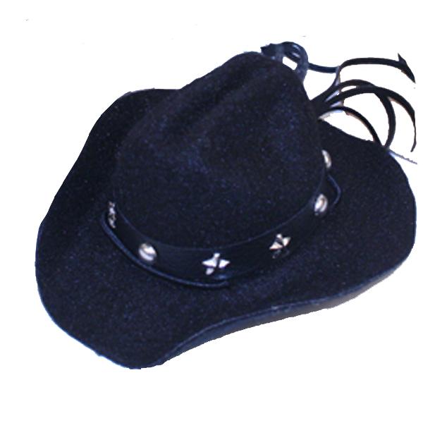 Dog Cowboy Hat - Black Felt