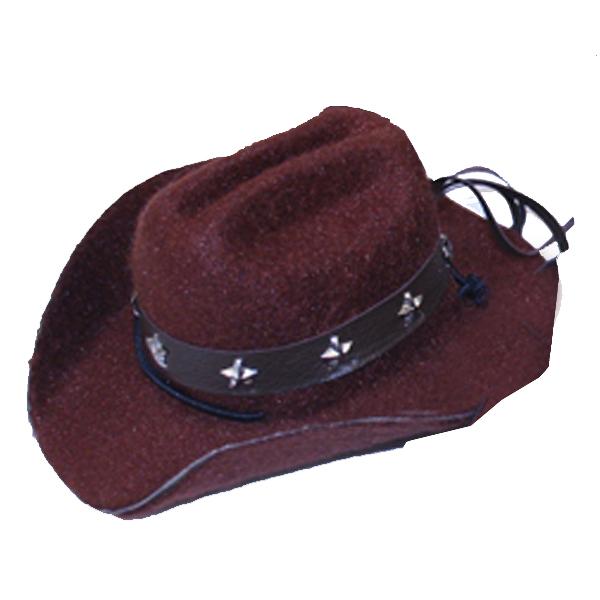 Dog Cowboy Hat - Brown Felt