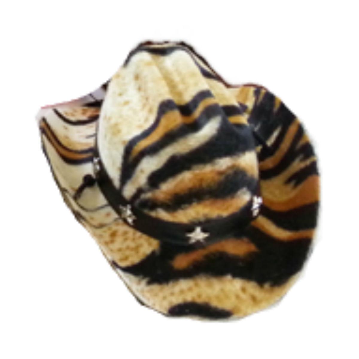 Dog Cowboy Hat - Tiger Felt