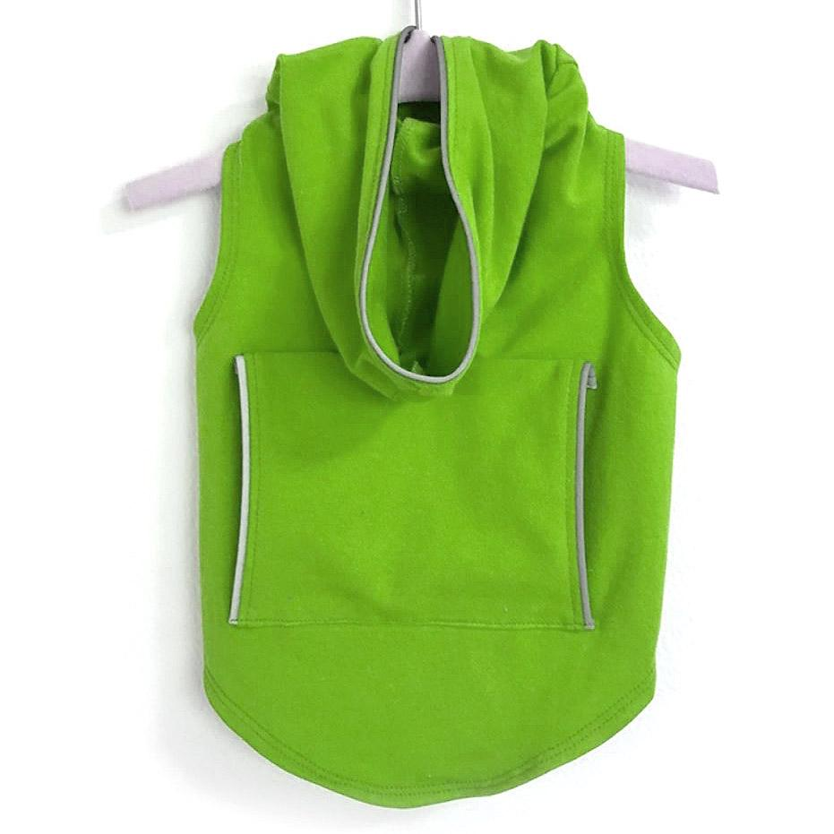 Dog Hoodie with Reflective Trim by Daisy and Lucy - Lime