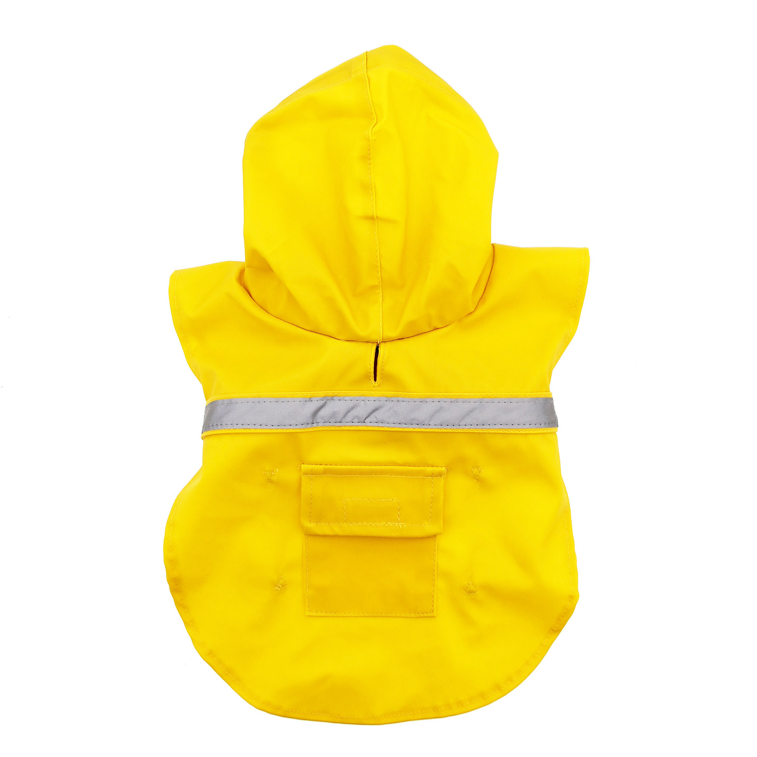 Dog Rain Jacket with Reflective Strip - Yellow