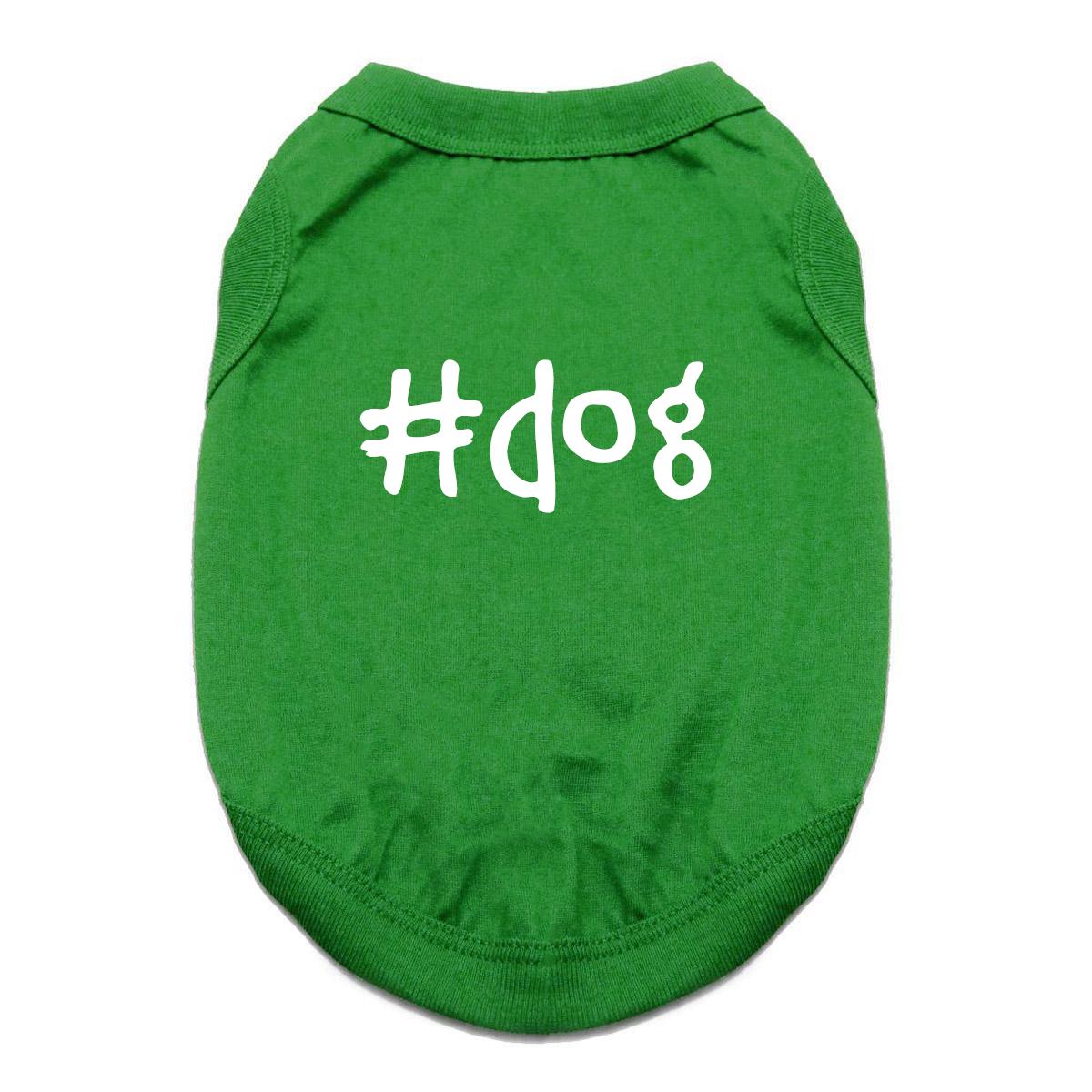 #Dog Shirt - Green