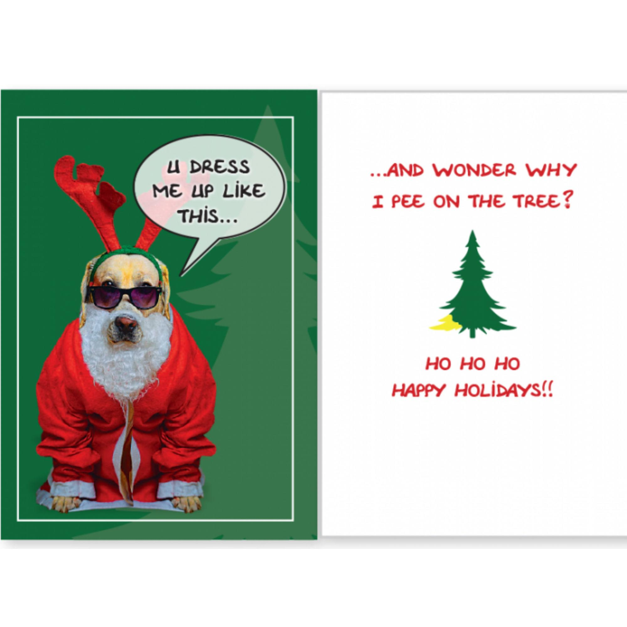 Dog Speak Dog Christmas Card - You Dress Me U... | BaxterBoo