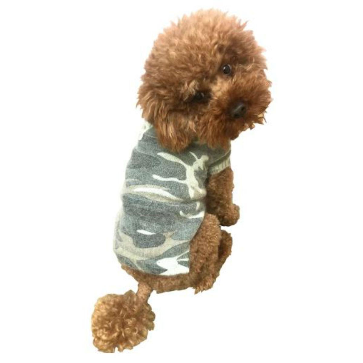 The Dog Squad Camouflage Mockneck Dog Sweater - Olive