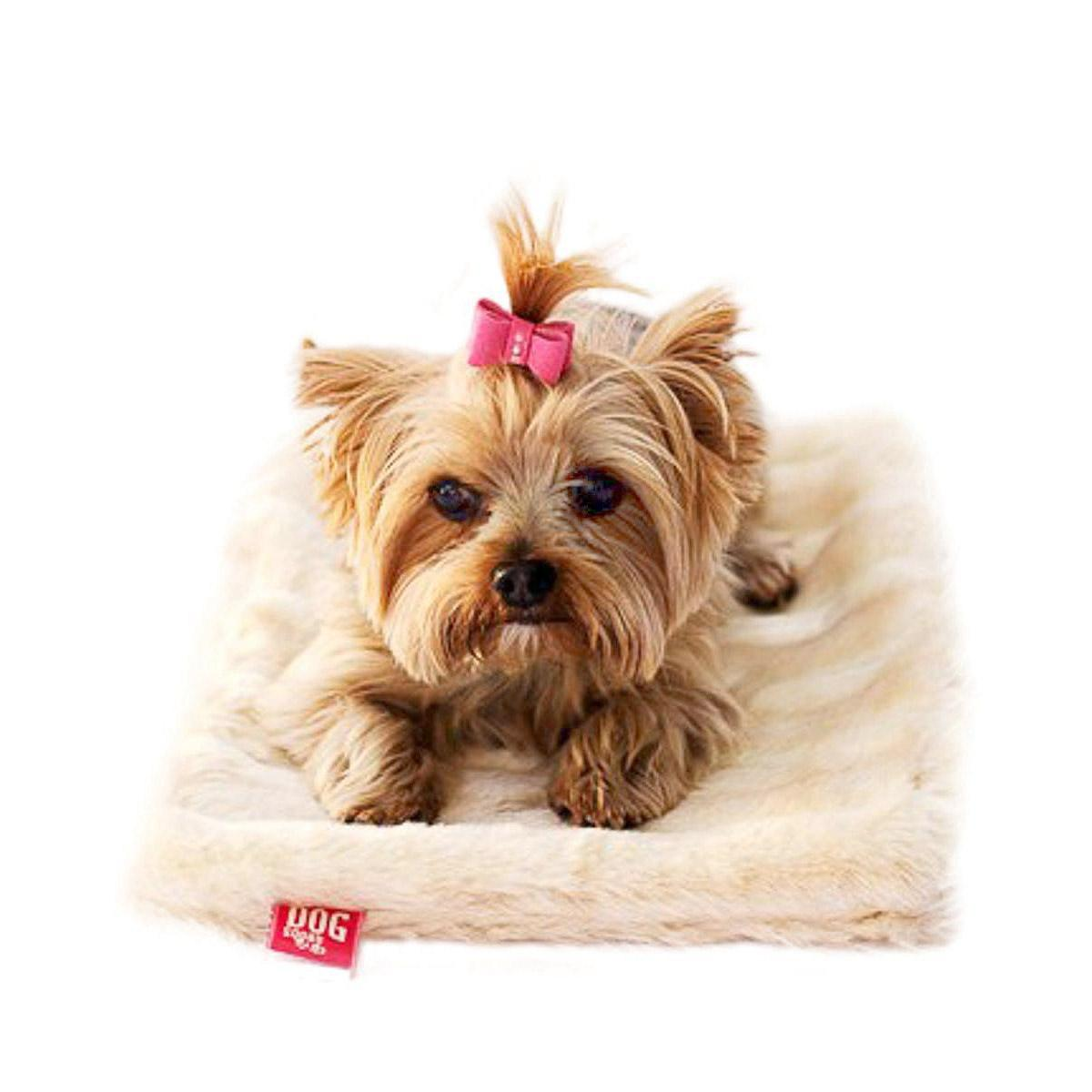 Luxury Faux Fur Crate Liner by The Dog Squad - Caramel Mink