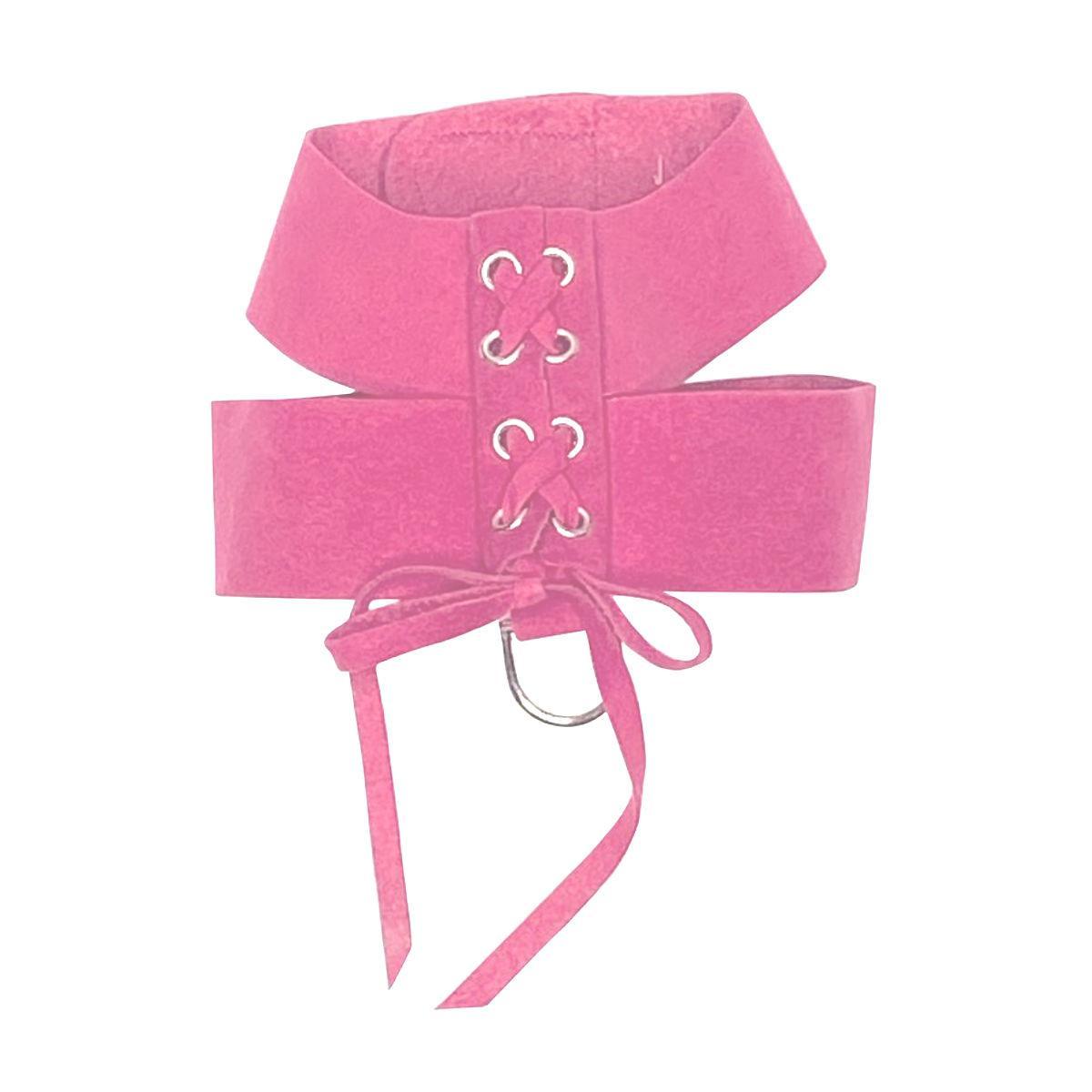 The Dog Squad Parisian Corset Dog Harness - Bubblegum Pink