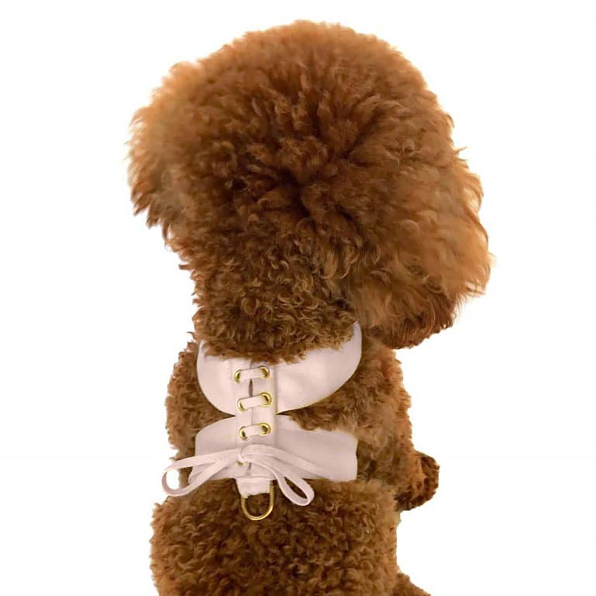 Parisian Corset Dog Harness by The Dog Squad - Blush Pink