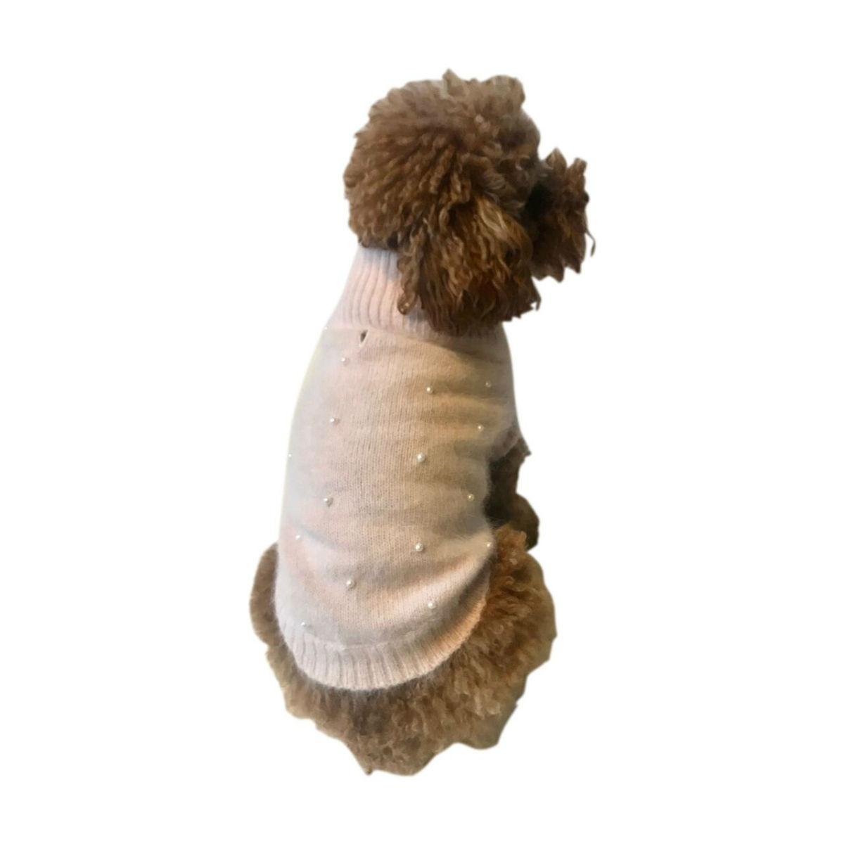 The Dog Squad's Pearly Girl Dog Sweater - Pink
