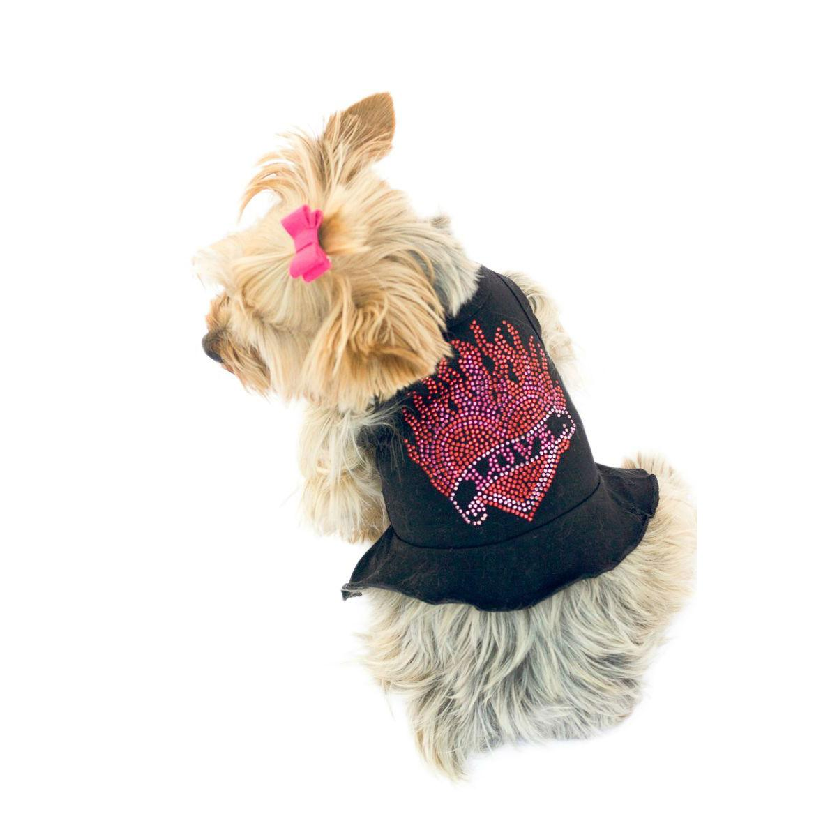 The Dog Squad's Tattoo Heart Tutu Dog Dress - Black