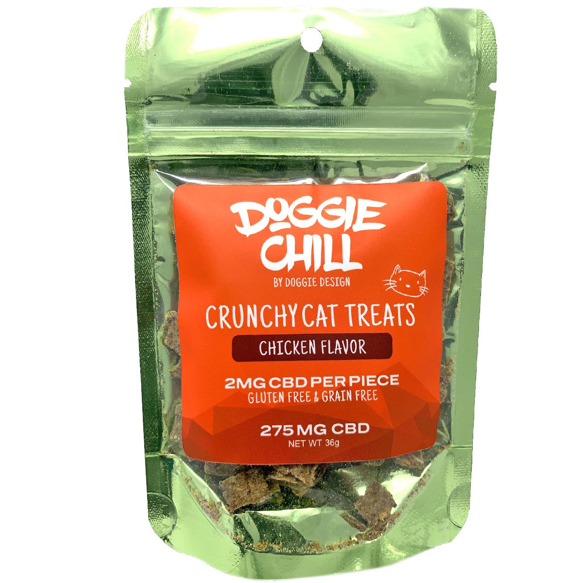 Doggie Chill Grain-Free CBD Crunchy Cat Treats - Chicken
