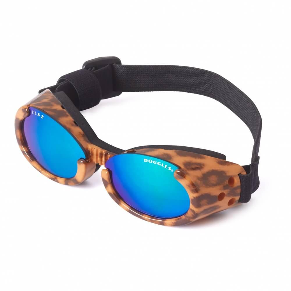Doggles - ILS2 Leopard Frame with Mirror Lens