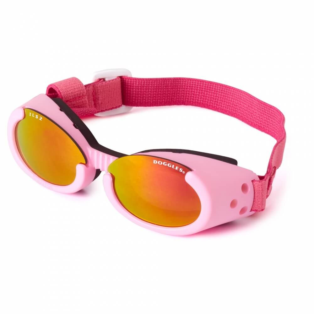 Doggles - ILS2 Pink Frame with Sunset Mirror Lens