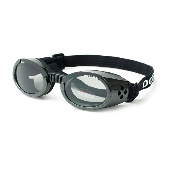 Doggles - ILS Shiny Black Frame with Smoke Lens