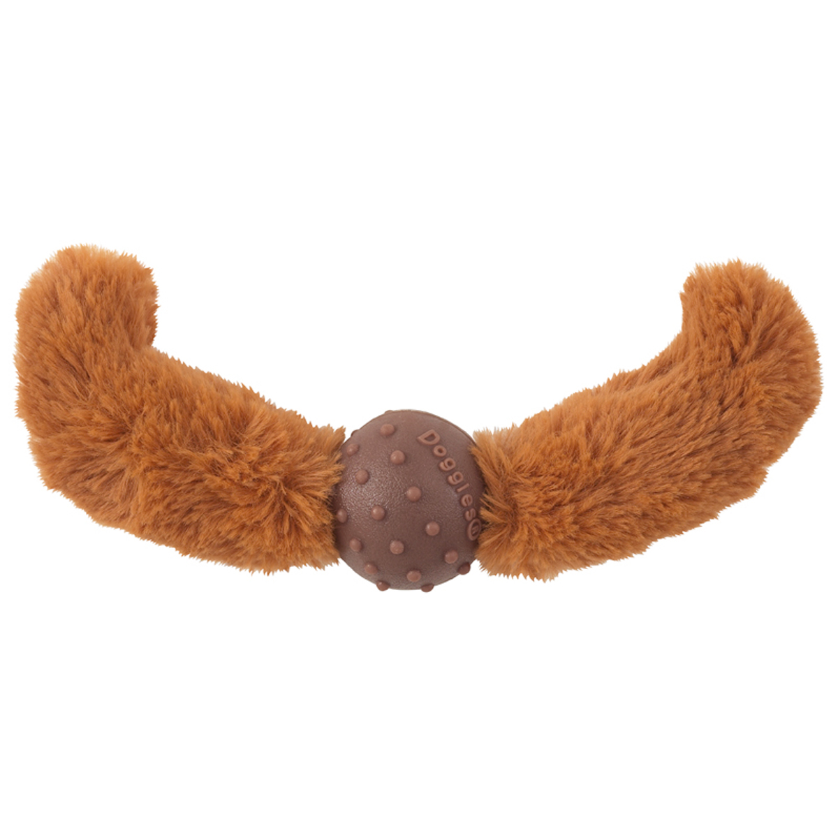 Doggles Mustache Dog Toy - Rust Straight