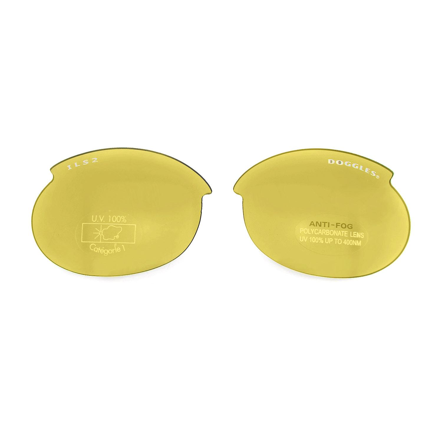 Doggles - Replacement ILS2 Lens Set - Yellow