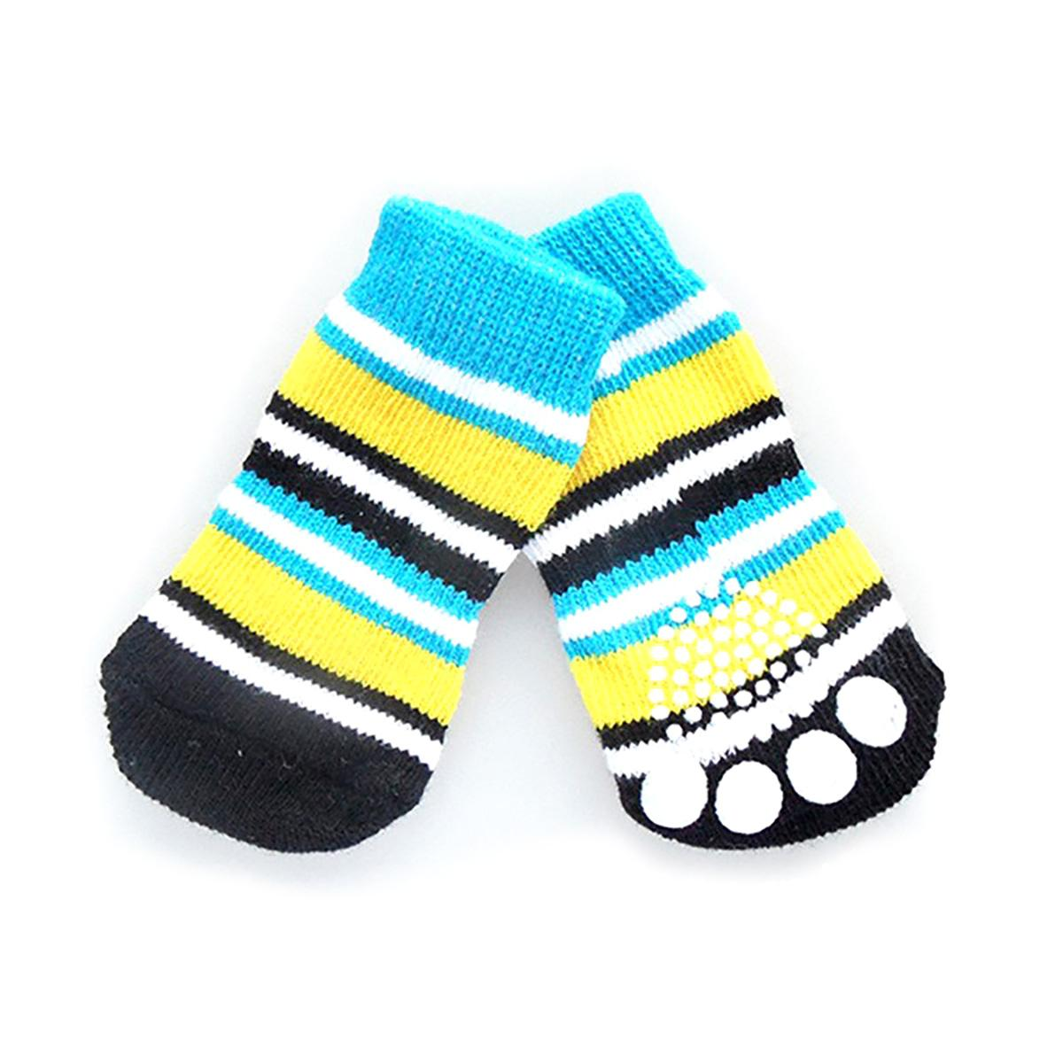 Doggy Socks - Classic Blue and Yellow Stripes
