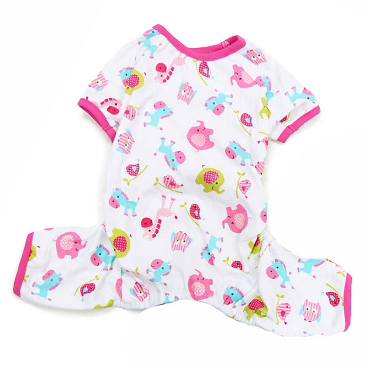 Dogo Zoo Dog Pajamas - Pink