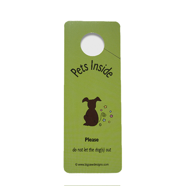 Dont Let My Dog Out Door Hanger Sign Green Baxterboo