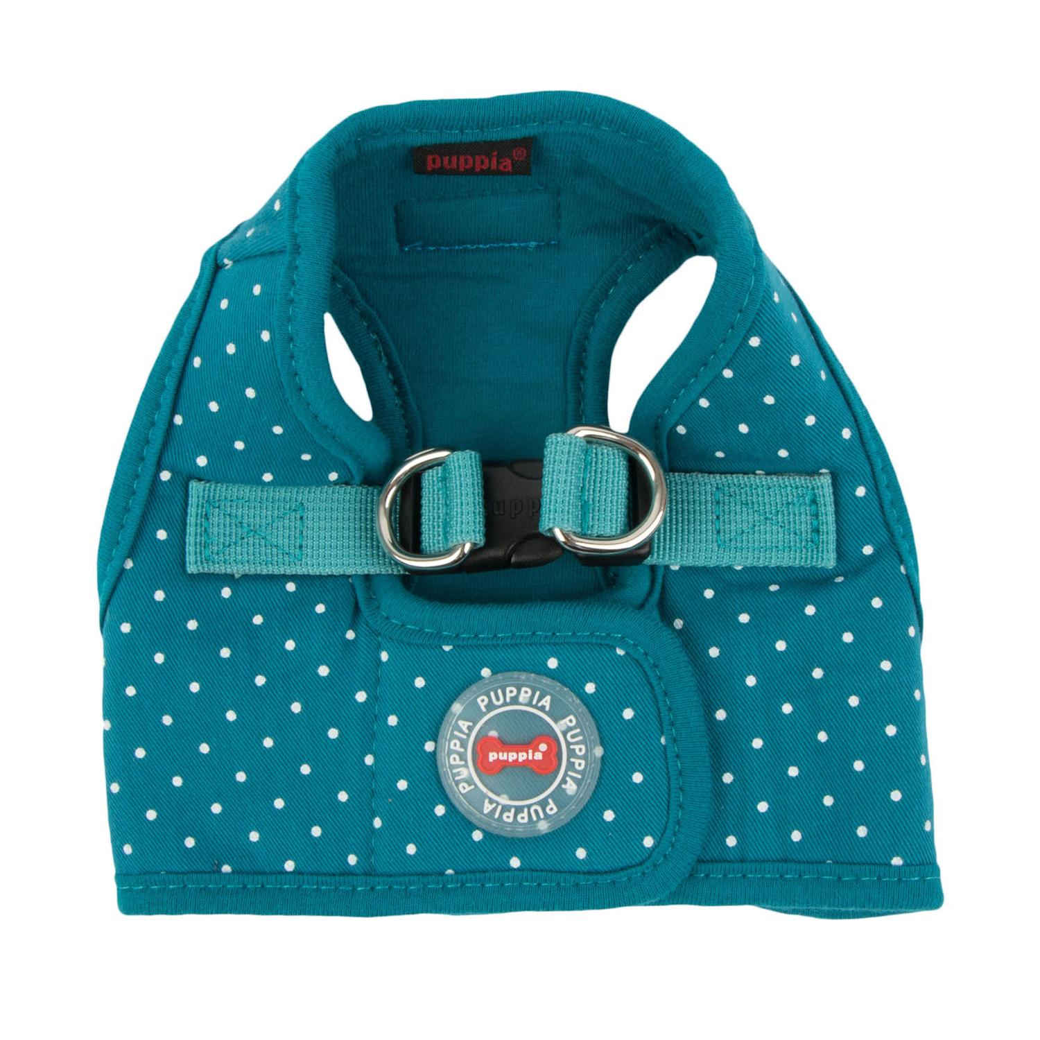 Dotty Dog Harness Vest by Puppia - Teal