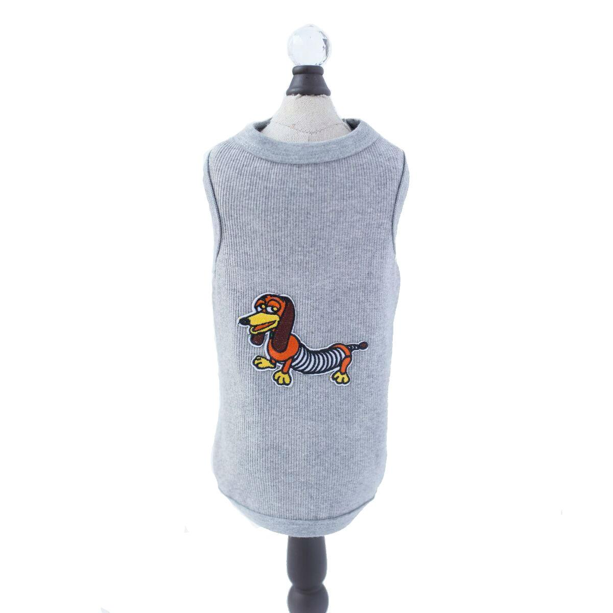 The Doxie Dog Tank by Hello Doggie - Gray